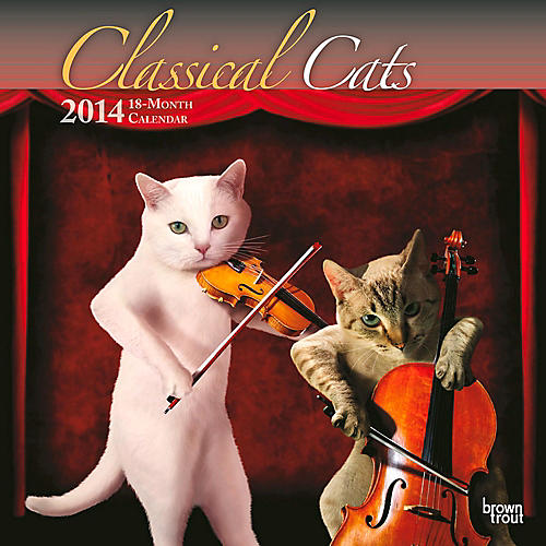 Browntrout Publishing Classical Cats 2014 Calendar Square 12x12