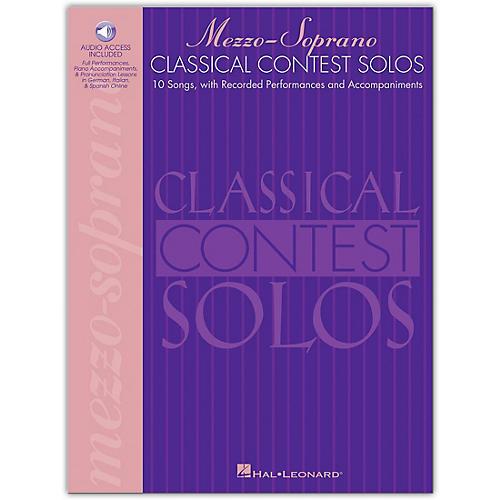 Hal Leonard Classical Contest Solos for Mezzo Soprano Book/CD
