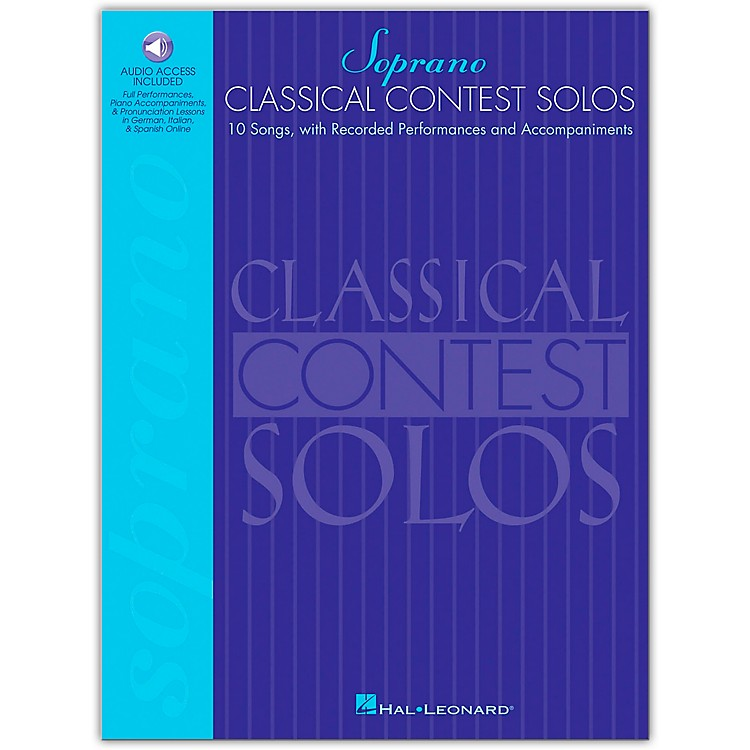 Hal Leonard Classical Contest Solos for Soprano Book/CD