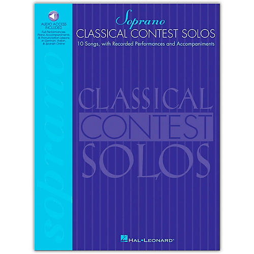 Hal Leonard Classical Contest Solos for Soprano (Book/Online Audio)-thumbnail