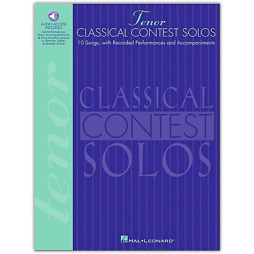 Hal Leonard Classical Contest Solos for Tenor Voice Book/CD