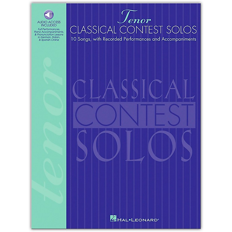 Hal LeonardClassical Contest Solos for Tenor Voice Book/CD