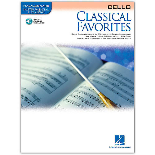 Hal Leonard Classical Favorites Cello Book/CD Instrumental Play-Along