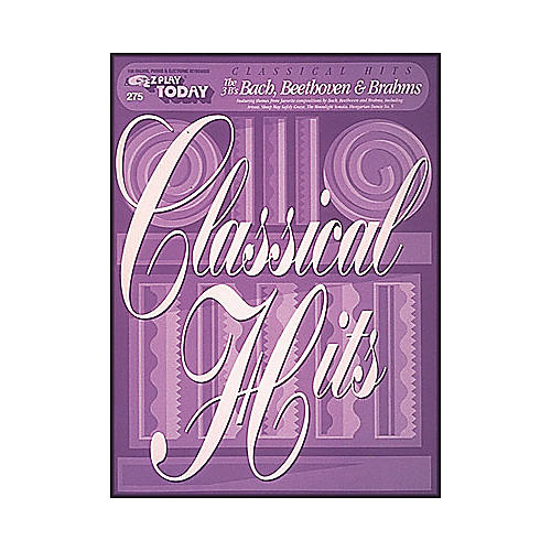Hal Leonard Classical Hits - The Three B's Bach, Beethoven, Brahm's E-Z Play 275