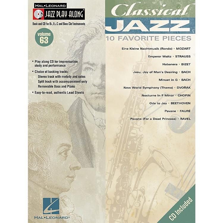Hal LeonardClassical Jazz--Jazz Play Along Volume 63 Book with CD