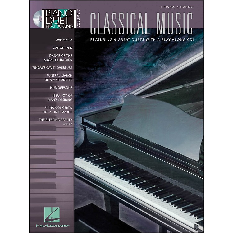 Hal Leonard Classical Music Duet Volume 7 Book/CD 1 Piano 4 Hands