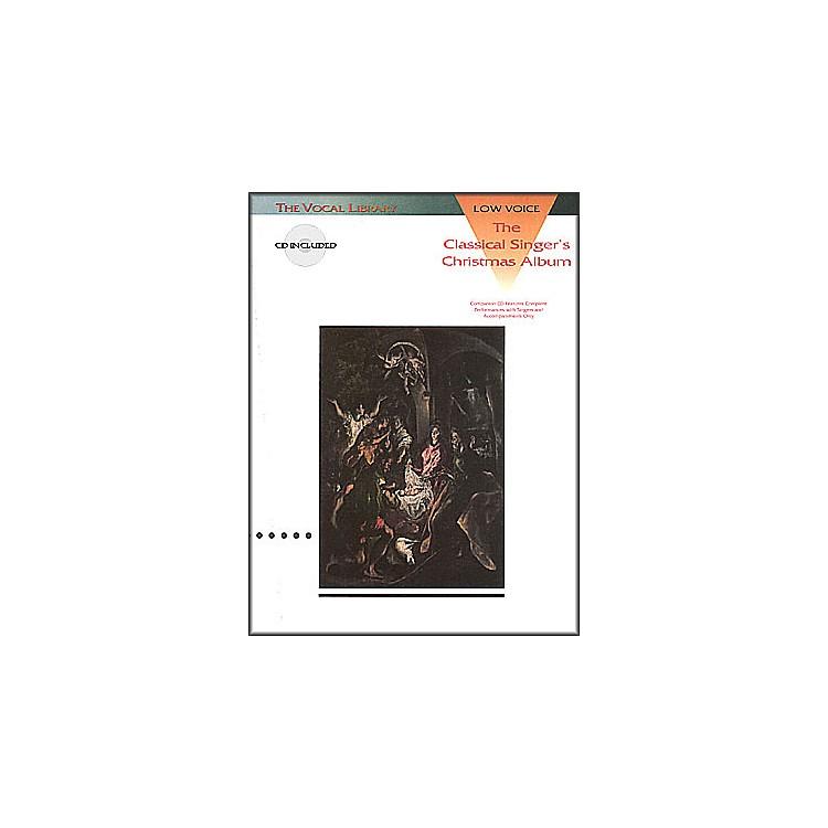 Hal LeonardClassical Singers Christmas Album for Low Voice Book/CD