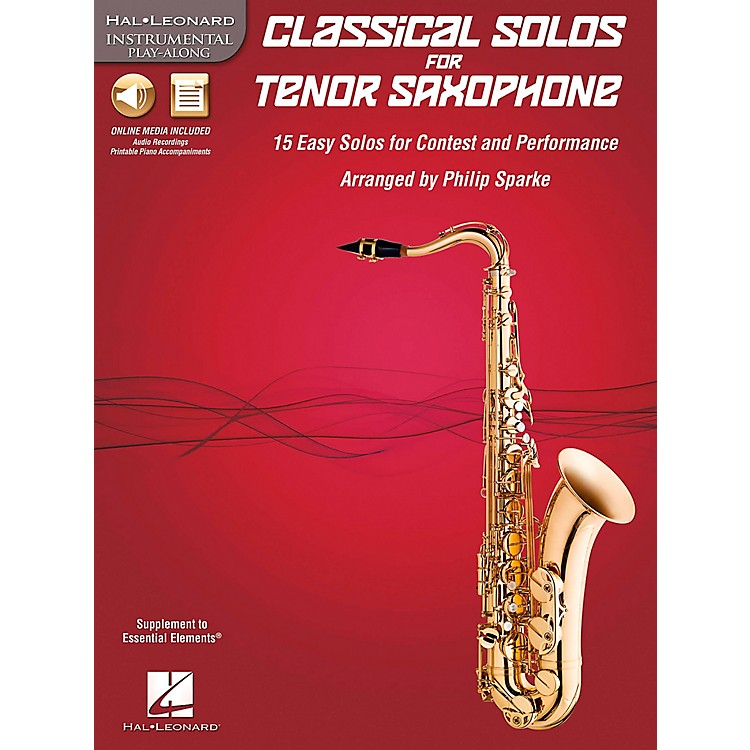 De Haske Music Classical Solos - 15 Easy Solos for Contest and Performance Book/CD Tenor Sax