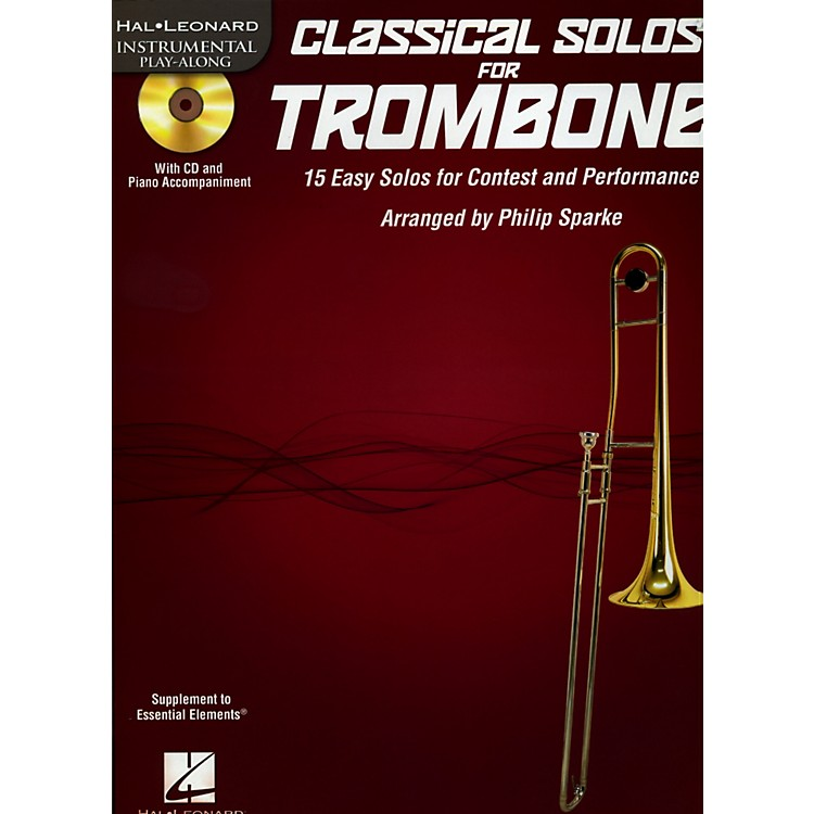 De Haske Music Classical Solos - 15 Easy Solos for Contest and Performance Book/CD Trombone