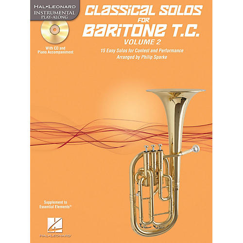 Hal Leonard Classical Solos for Baritone T.C., Vol. 2 Instrumental Folio Series Softcover with CD-thumbnail