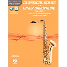 Hal Leonard Classical Solos for Tenor Saxophone, Vol. 2 Instrumental Folio Series Book with CD
