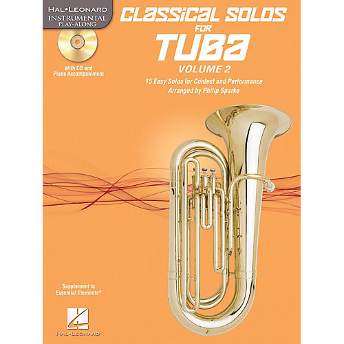Hal Leonard Classical Solos for Tuba (B.C.), Vol. 2 Instrumental Folio Series Softcover with CD-thumbnail