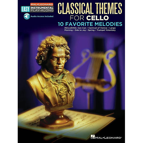 Hal Leonard Classical Themes - Cello - Easy Instrumental Play-Along Book with Online Audio Tracks