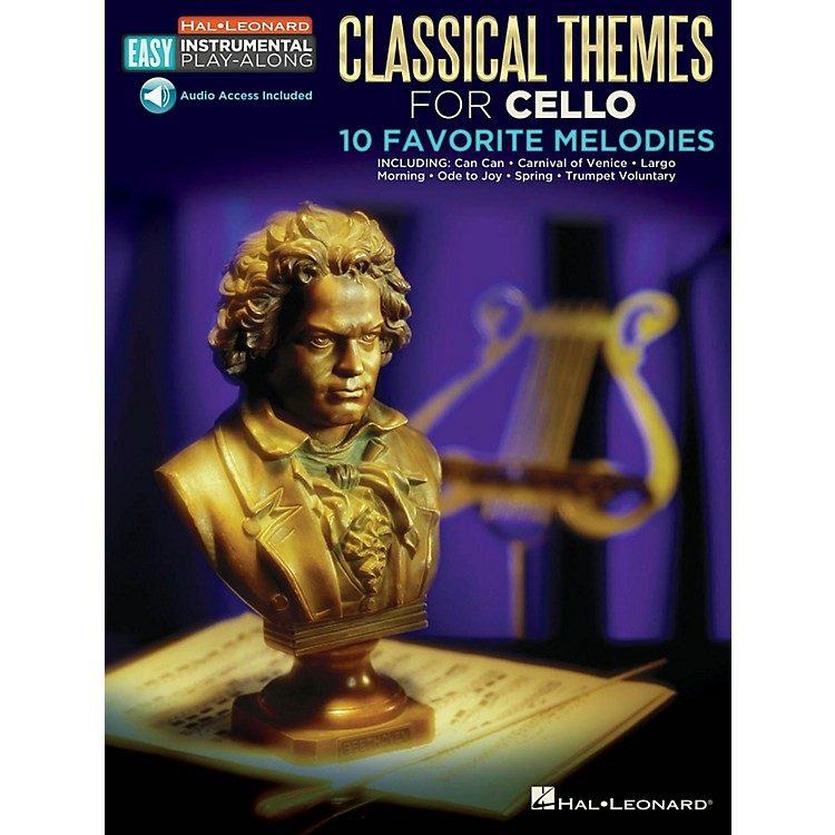 Hal LeonardClassical Themes - Cello - Easy Instrumental Play-Along Book with Online Audio Tracks