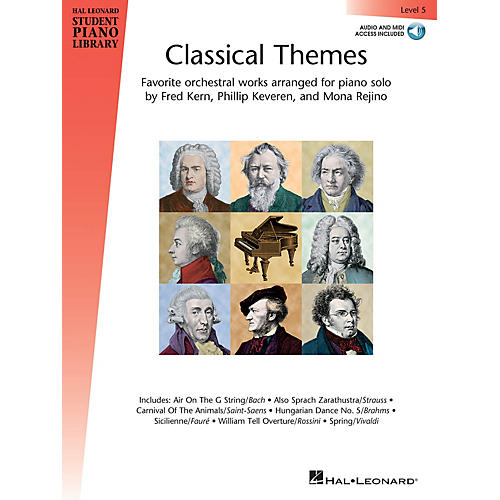 Hal Leonard Classical Themes - Level 5 Piano Library Series Book Audio Online-thumbnail