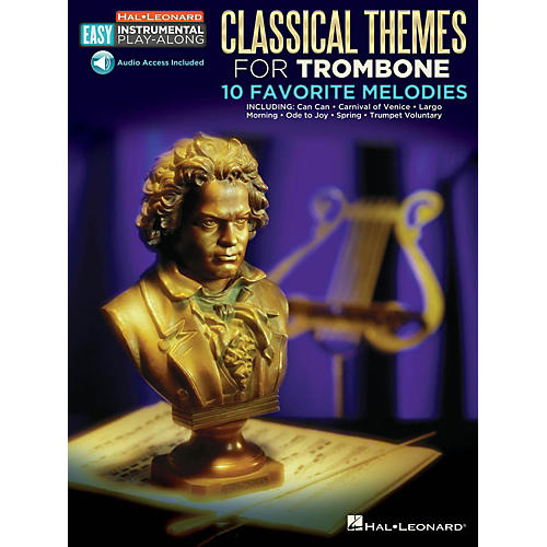 Hal Leonard Classical Themes - Trombone - Easy Instrumental Play-Along Book with Online Audio Tracks-thumbnail