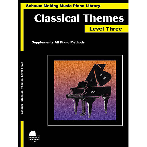 SCHAUM Classical Themes Level 3 (Schaum Making Music Piano Library) Educational Piano Book (Level Early Inter)