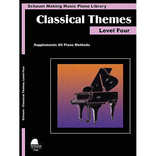 SCHAUM Classical Themes Level 4 (Schaum Making Music Piano Library) Educational Piano Book (Level Inter)-thumbnail