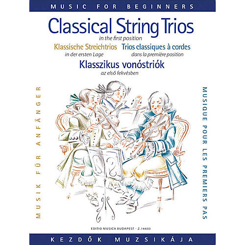 Editio Musica Budapest Classical Trio Music for Beginners (First Position) EMB Series Composed by Various Arranged by Lajos Vigh-thumbnail