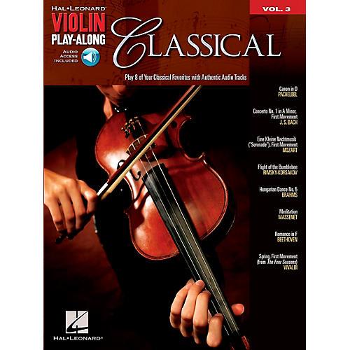 Hal Leonard Classical Violin Play-Along Volume 3 Book/Online Audio