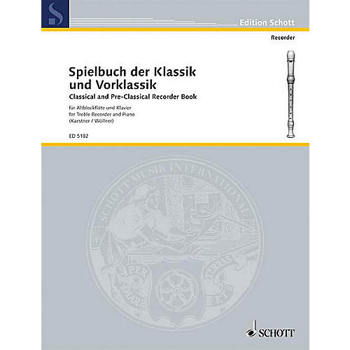Schott Classical and Pre-Classical (Treble Recorder and Piano) Schott Series-thumbnail