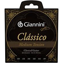 Giannini Classico Medium Tension Silverplated 65/35 Bronze Nylon Strings