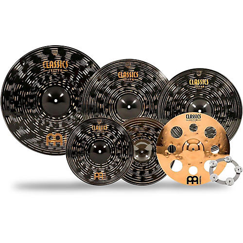 Meinl Classics Custom Dark Double Bonus Cymbal Set with Free Classics Custom Trash Crash and Ching Ring-thumbnail