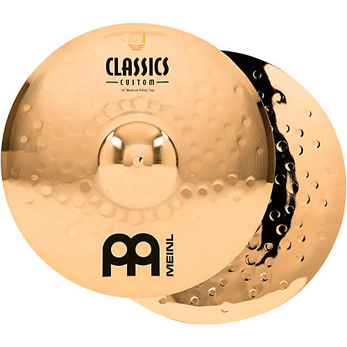 Meinl Classics Custom Medium Hi-Hats - Brilliant-thumbnail