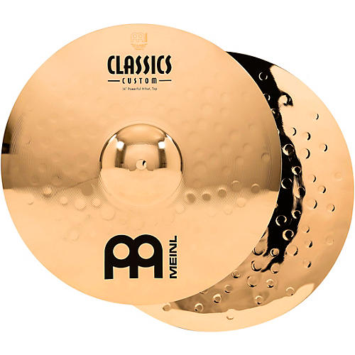 Meinl Classics Custom Powerful Hi-Hats - Brilliant 14 inch