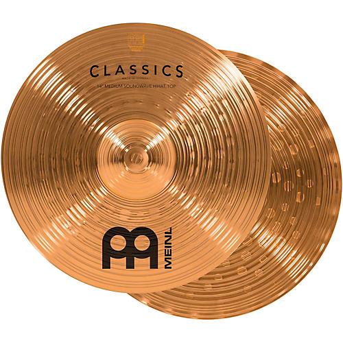 Meinl Classics Medium Soundwave Hi-Hat Cymbals 14 in.