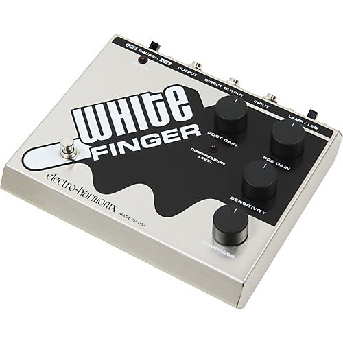 Electro-Harmonix Classics White Finger Compressor Guitar Effects Pedal-thumbnail