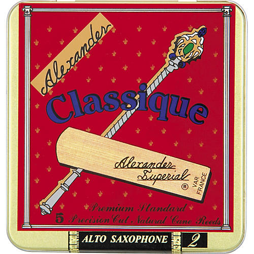 Alexander Reeds Classique Alto Saxophone Reeds Strength 2