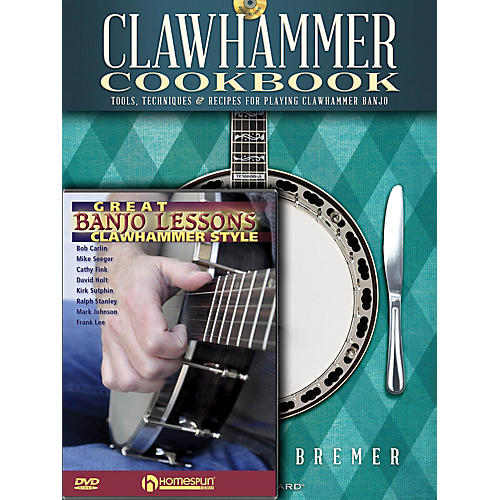 Homespun Clawhammer Banjo Pack Homespun Tapes Series Softcover with DVD Written by Michael Bremer-thumbnail