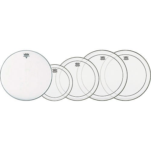 Remo Clear Pinstripe Fusion Pro Pack with Free 14 in. Coated Ambassador Snare Drum Head-thumbnail