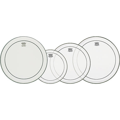 Remo Clear Pinstripe Fusion Pro Pack with Free 14 in. Powerstroke 3 Snare Drum Head-thumbnail