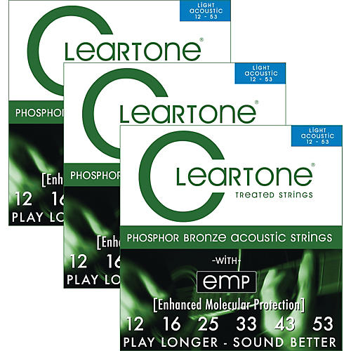 Cleartone Cleartone Coated Light Acoustic Guitar Strings Buy 2 Get One Free-thumbnail