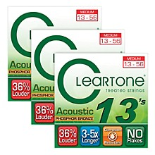 Cleartone Cleartone Coated Medium Acoustic Guitar Strings Buy 2 Get One Free
