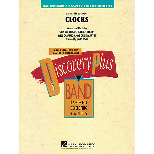Hal Leonard Clocks - Discovery Plus Band Level 2 arranged by James Kazik-thumbnail
