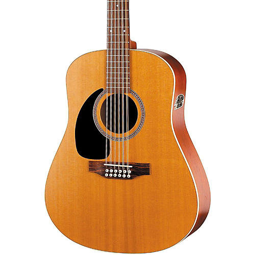 Seagull Coastline Series S12 Left-Handed 12-String QI Dreadnought Acoustic-Electric Guitar Natural
