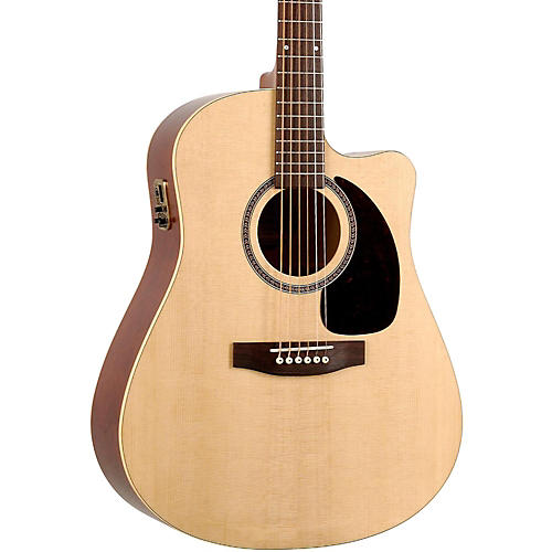 Seagull Coastline Series S6 Slim Cutaway Dreadnought QI Acoustic-Electric Guitar Natural