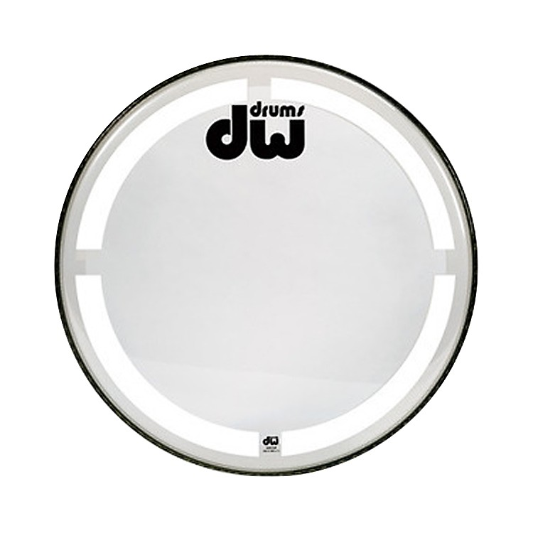 DW Coated Clear Bass Drum Head 26 Inch