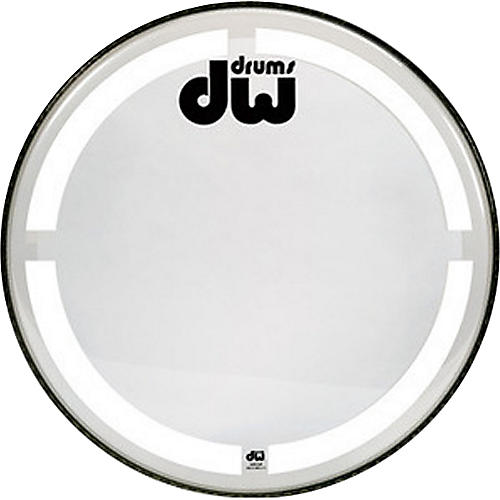 DW Coated Clear Bass Drum Head 22 in.-thumbnail