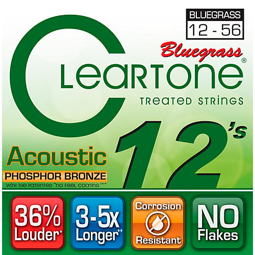 Cleartone Coated Phosphor-Bronze Bluegrass Acoustic Guitar Strings
