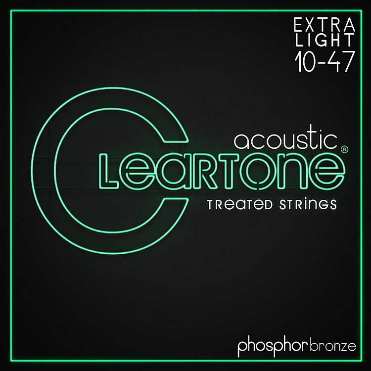 Cleartone Coated Phosphor-Bronze Ultra Light Acoustic Guitar Strings
