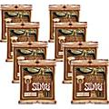Ernie Ball Coated Slinky Phosphor Bronze Acoustic Strings Extra Light - 8 Pack  Thumbnail