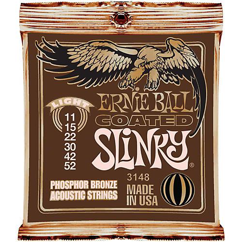 Ernie Ball Coated Slinky Phosphor Bronze Acoustic Strings Light