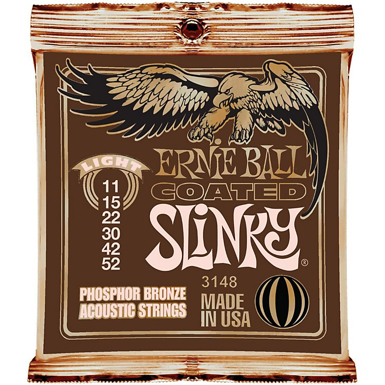 Ernie Ball Coated Slinky Phosphor Bronze Acoustic Strings Light