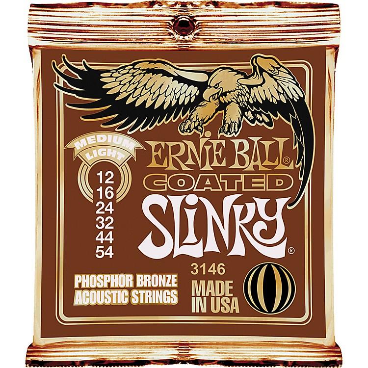 Ernie BallCoated Slinky Phosphor Bronze Acoustic Strings Medium Light