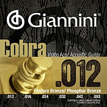 Giannini Cobra Series Phosphor Bronze Light .12-.53 Acoustic Guitar Strings