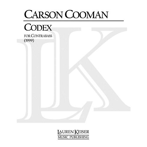 Lauren Keiser Music Publishing Codex (Double Bass Solo) LKM Music Series Composed by Carson Cooman-thumbnail